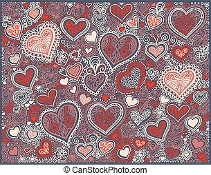 heart shape background in red colors to valentines day