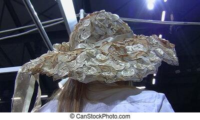 Original handmade womans hat - Unique design handcrafted...