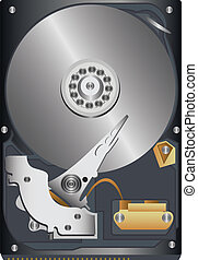 hard disk - original hard disk on a white background