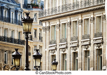 Original historic Parisian architecture