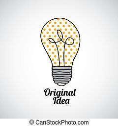 original idea over gray background vector illustration