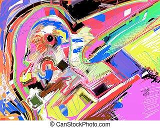 original illustration of abstract