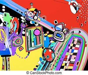 original illustration of abstract artwork digital painting
