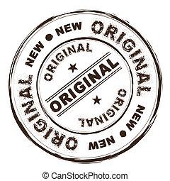 original ink rubber stamp