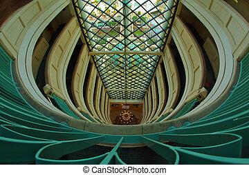 Original interior of magnificent hotel