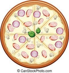 Original Italand Pizza on White Background