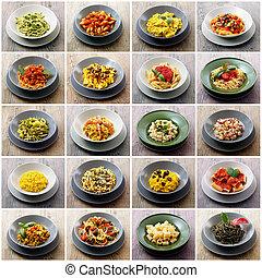 original italian pasta collage - collage of original italian...
