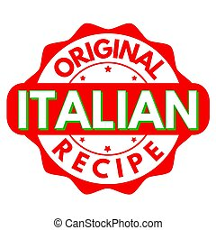 Original italian recipe sign or stamp