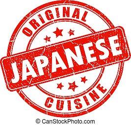 Original japanese cuisine vector stamp