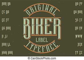 Original label typeface
