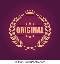 Original laurel heraldic emblem