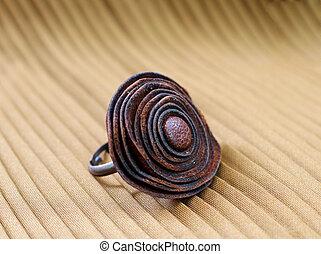 original leather ring - original leather handmade ring on ...