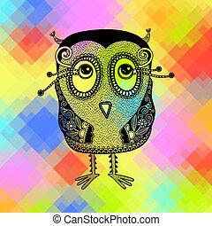 original modern cute ornate doodle fantasy owl
