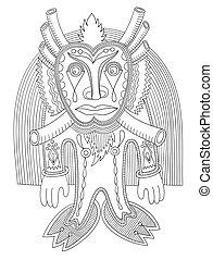 original modern doodle fantasy monster personage
