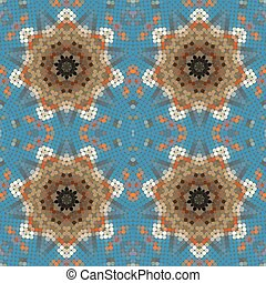 Original mosaic seamless pattern.
