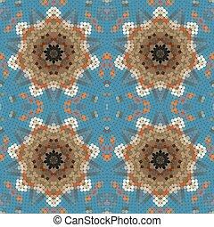Original mosaic seamless pattern.