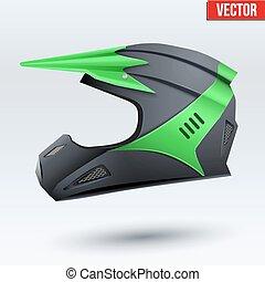 Original Motorcycle Helmet. Extreme enduro motocross style. ...