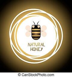 original natural honey icon