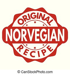 Original norvegian recipe grunge rubber stamp
