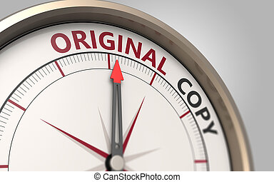Original or copy - Compass arrow pointing to the original...