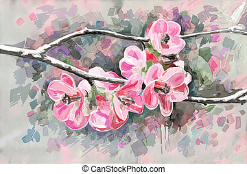 original painting of flower