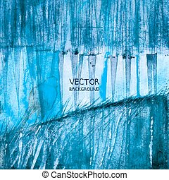 Original painting on paper. Watercolor abstract background. Blue Vector version. eps 8