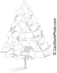 Original paper tree illustration
