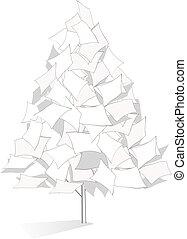 Original paper tree illustration