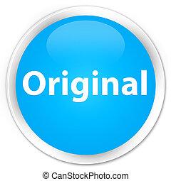 Original premium cyan blue round button