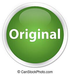 Original premium soft green round button