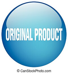 original product blue round gel isolated push button