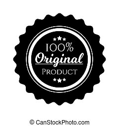 original product circle seal stamp on white background