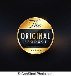 original product label vector design