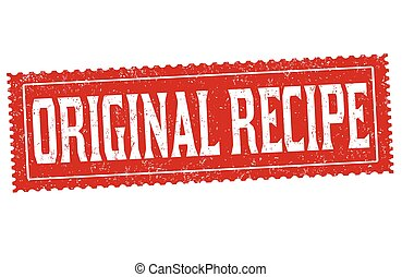 Original recipe grunge rubber stamp