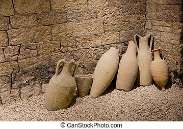 Original roman amphorae