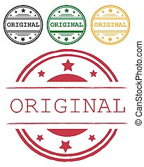 Original round isolated sign original seal