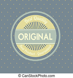 original seal over gray  background vector illustration