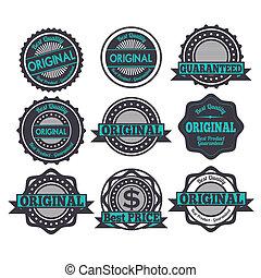 original seals over white background vector illustration
