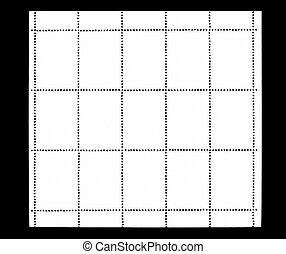 original set blank postage stamp