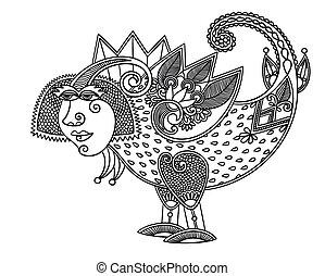 original sketch unique dragon