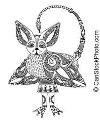 original sketch unique dragon - original hand draw sketch...