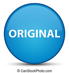 Original special cyan blue round button