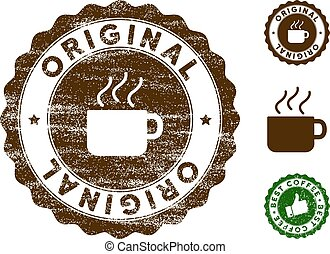 Original Stamp Seal with Grungy Style
