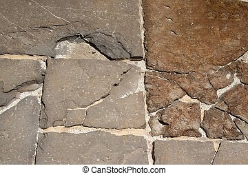 Original stoned floor in roman ruin