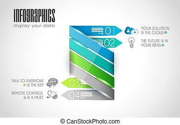 Original Style Infographics Templates to display your data....