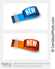 Original Style Paper Tag with TRANSPARENT shadows.