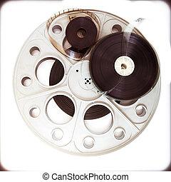 Original theater movie cinema 35mm reel with film reels