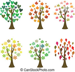 Original tree icons. Vector set