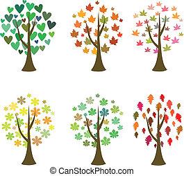 Original tree icons. Vector set