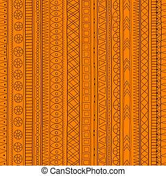 Original tribal doddle ethnic pattern. - Original drawing...